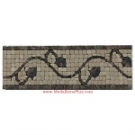 "Trenton (brown), Honed Mosaic Tile Listello 4"" x 12"""